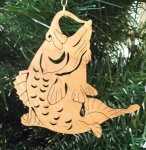 Fish Christmas Ornament Wood Christmas Ornaments