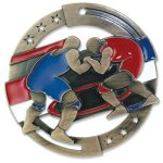 Color Wrestling Medal Wrestling Trophies