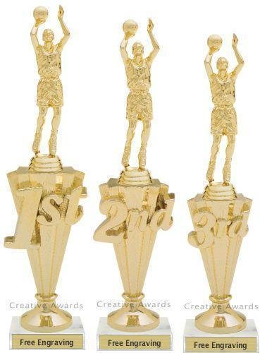 First - Third Place Basketball Trophies 1 Basketball Trophies