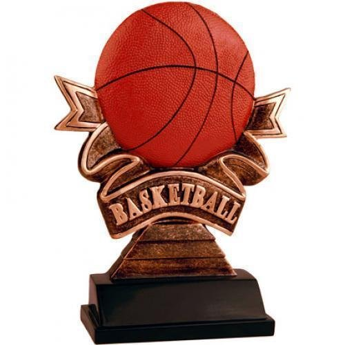 Ribbon Basketball Resin Basketball Trophies